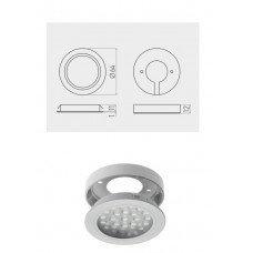 Светильник LED Врезной / накладной Vasco, 12V DC, 24 SMD3528, 200см провод с miniAMP х / б, белый