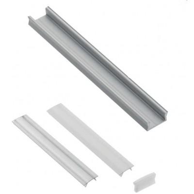 Алюминиевый профиль GLAX накладной MINI, 3 метра (цена за 3 метра) - PA-GLAXMNK3M-AL