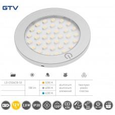 Светильник LED Castello с включателем 12V DC, 2,8 W, 36 SMD3528, 200см провод с miniAMP