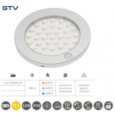 Светильник LED Castello с включателем 12V DC, 2,8 W, 36 SMD3528, 200см провод с miniAMP - LD-CS36CB-53