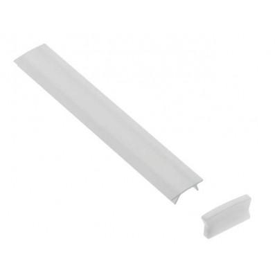 Крышка молочного цвета для алюминиевого профиля PA-GLAX MINI - PA-OSMLGLAXM3M-00
