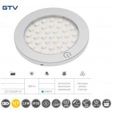 Светильник LED Castello с включателем 12v DC, 36 Smd3528, 200см провод с miniamp х / б, серый