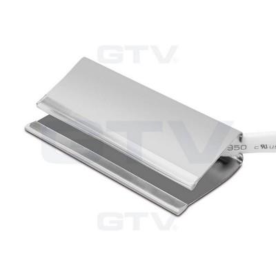 Клипса светодиодная стальная для стеклянных полок, 3 диоды RGB SMD 5050, 0.6W / 12DC - LD-3KL6-RGB