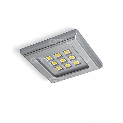 Светильник светодиодный квадратный хром VINCENTE б / х - LD-KW09ZB-40