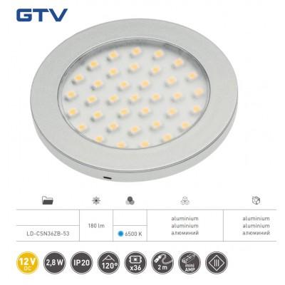 Светильник LED Castello, 12v DC, 36 Smd3528, 200см провод с miniamp (2 метизы, скотч 3m) - LD-CSN36ZB-53