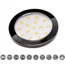 Светильник LED Lumino 12V DC, 1.5W, 16 SMD3528, 200см провод с miniAMP т / б, черный