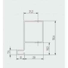 Профиль J вертикальный боковой GTV VELLO 3000 мм Алюминий