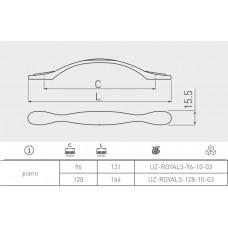 Ручка GTV ROYAL 5 96 мм Белый / Золото