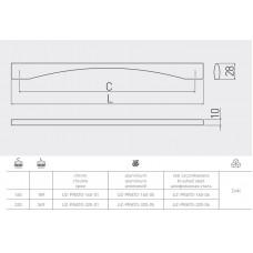 Ручка GTV PRATO 160 мм Алюминий A