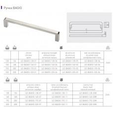 Ручка GTV BAGIO 128 мм шлифованная сталь