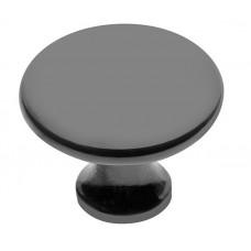 Ручка кнопка GTV UDINE d 29 мм Черный матовый