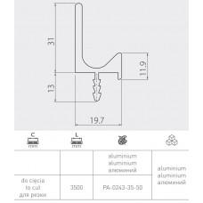 Ручка GTV PROFIL L 3500 мм Сталь