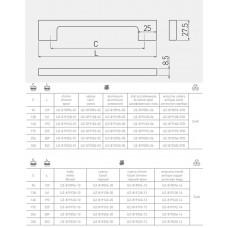 Ручка GTV UZ-819 96 мм Черный хром