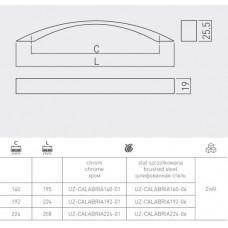 Ручка GTV СALABRIA 224 мм Хром