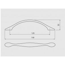 Ручка GTV CAMAIO 128 мм Черный матовый