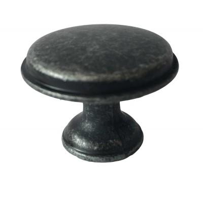 Ручка кнопка CENTO Античное серебро - GZ-CENTO-1-07