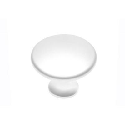 Ручка кнопка UDINE белый - GZ-UDINE-1-10M