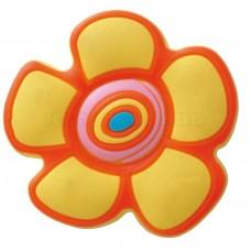 Ручка детская резиновая цветочек желтая
