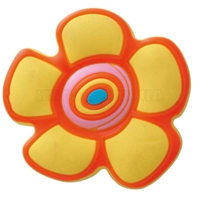 Ручка детская резиновая цветочек желтая - um-kid-c-001