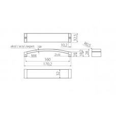 Ручка ACRYL 160 мм, хром