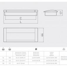 Ручка врезная GTV UA-326160 мм Черный