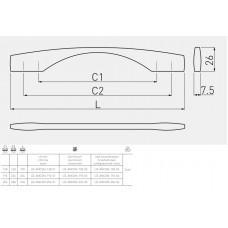 Ручка ANCONA (192 мм, шлифованная сталь)