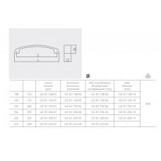 Ручка мебельная GTV UZ-G1 192 мм, Титан
