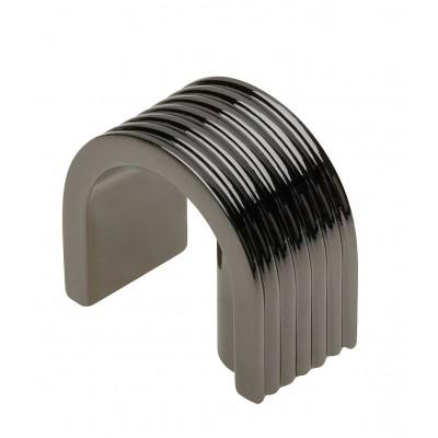 Ручка кнопка VETA Черный хром - GZ-VETA-1-12