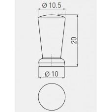 Ручка кнопка IMOLA (Алюминий)