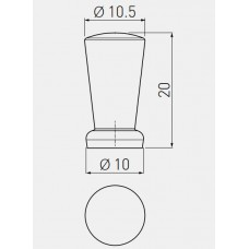 Ручка кнопка IMOLA (Сатин)