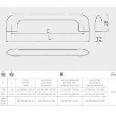 Ручка GTV MILANO 128 мм Черный матовый