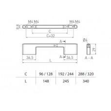 Ручка ASTI 192-224 мм, Хром