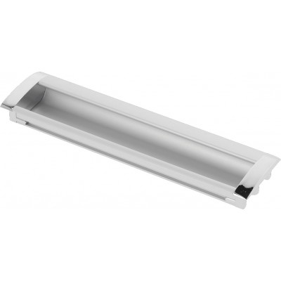 Ручка врезная UA-326 128 мм Алюминий_Хром - UA-01-326128-V1