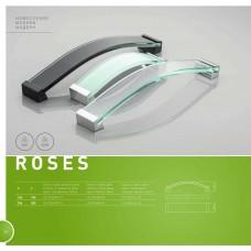 Ручка ROSES 160 мм Белое стекло