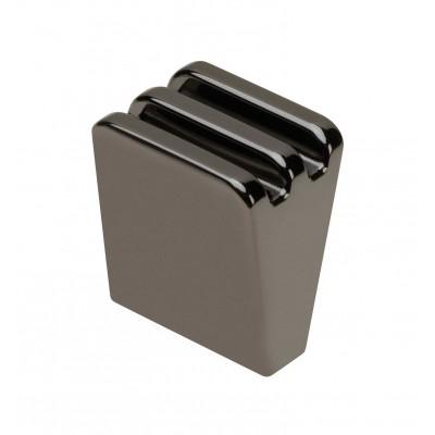 Ручка кнопка GANZA Черный хром - GZ-GANZA-1-12