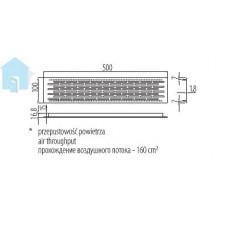 Вентиляционная решетка сталь 100х500