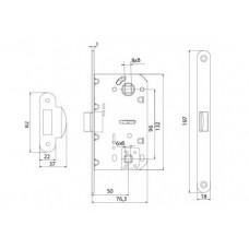 P-2056 AB механизм для дверей под WC старая бронза