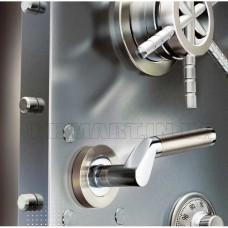 S-1103 SN/CP ручка для дверей на розетке мат. никель/пол.хром