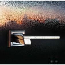 Z-1324 SN/CP ручка для дверей на розетке мат. никель/пол.хром