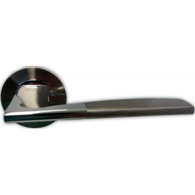 Z-1220 SN/CP ручка для дверей на розетке мат никель/пол хром - z1220-sncp