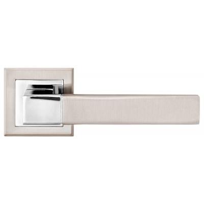 A-2004 SN/CP ручка д/дверей на розетке, мат. ник./пол.хром - a-2004-sncp
