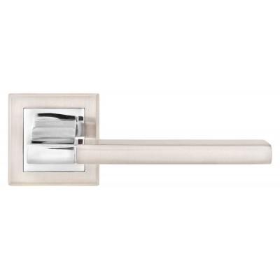 A-2008 SN/CP ручка д/дверей на розетке, матовый никель