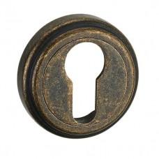 E6 AMAB накладка под цилиндр античная матовая старая бронза