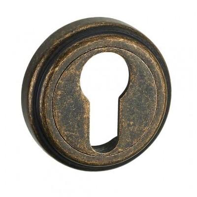 E6 AMAB накладка под цилиндр античная матовая старая бронза - e6_amab