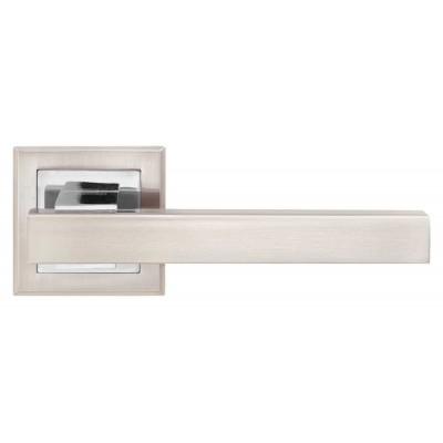 Z-1290 SN/CP ручка для дверей на розетке мат. никель/пол.хром