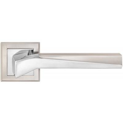 Z-1319 SN/CP ручка для дверей на розетке мат. никель/пол.хром - z1319-sncp