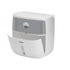 Держатель для туалетной бумаги клейкий BP-16 пластиковый белый / серый