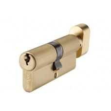 P6E35 / 35T SB цилиндр англ.ключ / тумблер мат. латунь