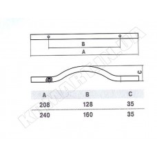 Ручка D-1001-128 CP для мебели полированный хром