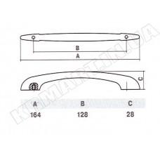 Ручка D-1002-128 CP для мебели полированный хром